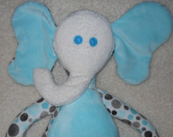 Polka dot with Light blue accents Endle the Elephant