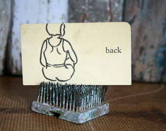 Vintage Flash Card - Back