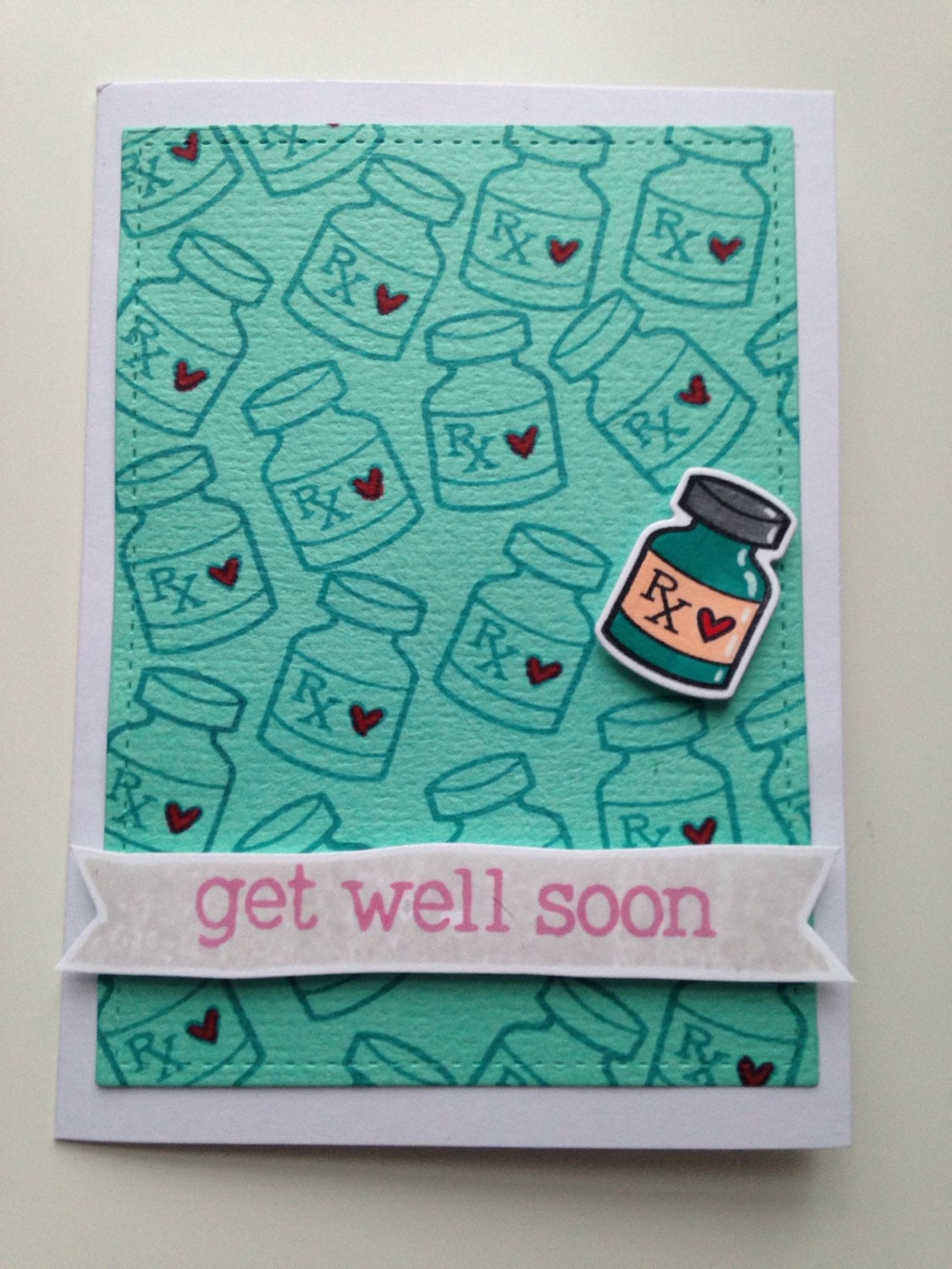 get well soon card handmade card ideal for cheering up sick