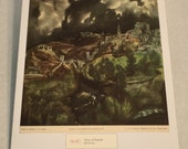 "1937 Art Print ""View of Toledo"" by El Greco"