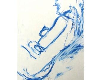 blue sketch - her / woman/ female