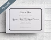 Simple Save the Date Printable Black & White Save the Date