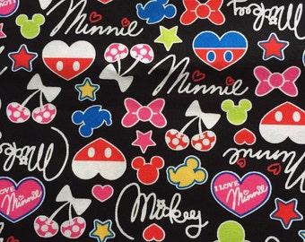 Mickey shape printed fabric Half yard