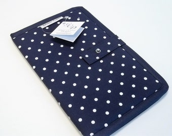 Folding Pattern Full Sleeve in Navy Dots