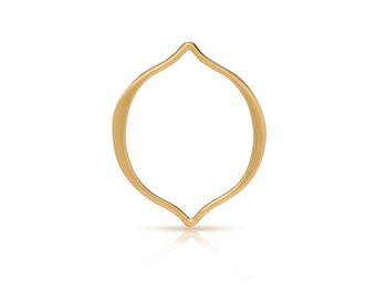 24K Gold Plated Sterling Silver 20x16mm Medium Arabesque Link - 1pc 10% discounted High Quality Charms (6068)/1