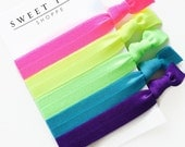Neon Rainbow Hair Tie Collection