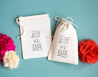 """Wedding Favor Bags - """"Just In Case"""" Part Bags - Welcome Bags"""