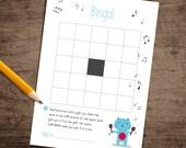 Bingo Card | Baby Shower games | DIY shower cards | Gender Neutral | INSTANT DOWNLOAD