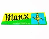 Vintage New Old Stock Unused MANX Vegetable / Fruit Crate Label