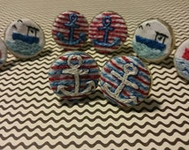 nautical cufflinks (ships and anchors)