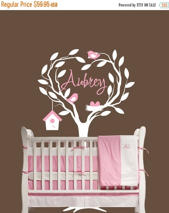 SALE Children Wall Decal Nursery Personalized with Name  Decor Removable Vinyl Wall Sticker Baby Decor Children Tree Decal