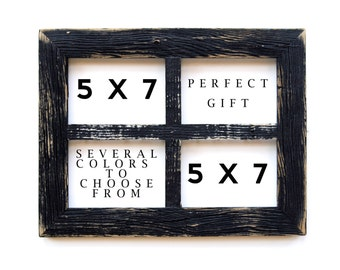 "2"" 5x7 Barn Window Collage Picture Frame-Christmas Gift-Rustic Picture Frame-Reclaimed-Cottage Chic-Collage Frame-Picture Frames"