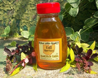 Pure Raw Ohio Fall Honey -8 ounce jar