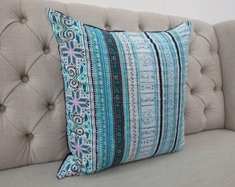 Vintage Hmong cushion cover, Handwoven Fabric-vintage cotton,Decorative Cushion & Pillows