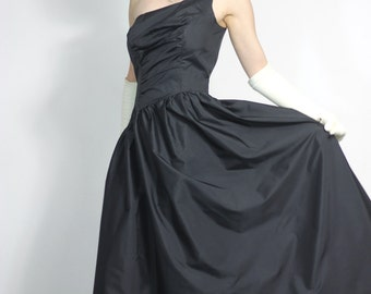 Black One Shoulder Ball Gown