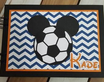 Personalized Disney Soccer Autograph Book