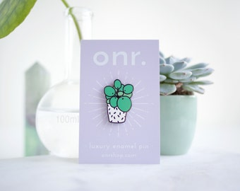 Pilea Enamel Pin // succulent pin - enamel pin - lapel pin - flair - enamel jewellery - pin badge