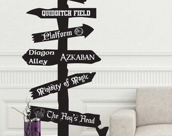 Fantasy fandom storybook customizable V1 sign wall decal fantasy magic wand living room bedroom decor kids nursery wizard wizardry always