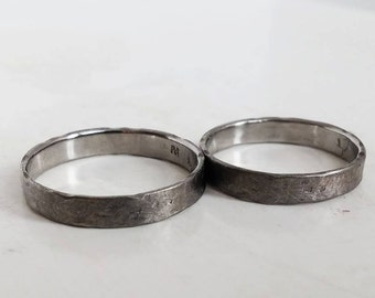 Fair wedding rings in palladium 500