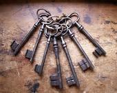 Vintage Extra Large French Skeleton Keys - Keys to the Castle