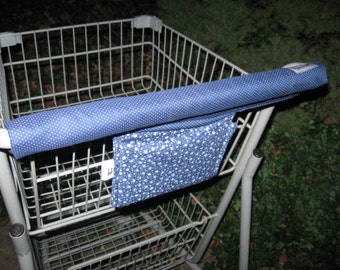 Shopping Cart Cover, Cart Handle Cover, Cart Cover, Shopping Cart Covers, Blue Polka Dot Print Cart Cover, Shopping - Handy Cart Cover