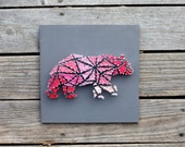 Geometric Bear String and Nail Art