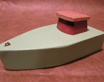 Wooden toy boat the Island hopper