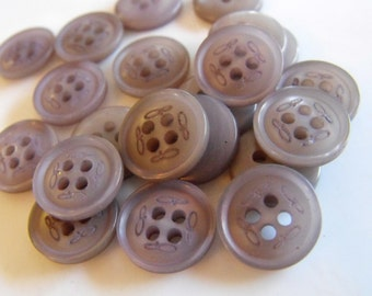 """14 Ash Gray Shoe Print Round Buttons Size 1/2"""""""
