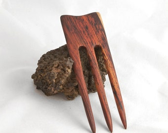 COCOBOLO Hair Fork - 3 Prong Hairfork