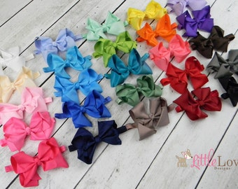 "Baby Headband- Bow Headband- 5"" Bow Headband- Hair Bow Headband- Baby Bow Headband- Toddler Bow Headband"
