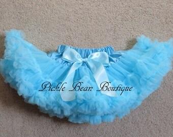 Light Blue Tutu - Princess Pettiskirt - 9-24 mo - Ready To Ship - 1st Birthday Tutu - Petti Skirt Tutu - 1st Birthday Girl Outfit