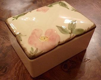 FranciscanWare Desert Rose Cigarette/Trinket Box