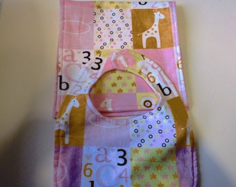 Baby Girl Bib and Burp Cloth sets- 2Piece and 4 Piece Sets