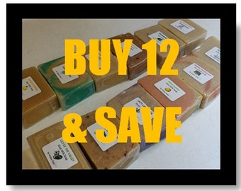 4 Dollar Bars-BUY 12 and SAVE-goat milk soap-bath/shower bars by Happy Goat