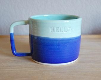 hello text mug