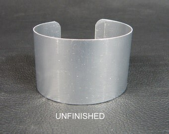 Aluminum Cuff Bracelet Blanks 1 1/2 inch x 6 inch, DOZ, unfinished for bead embroidery, polymer clay, decoupage, wire wrapping, alcohol inks