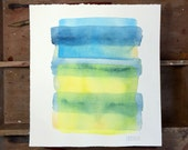Color field 6. A signed original watercolor painting.