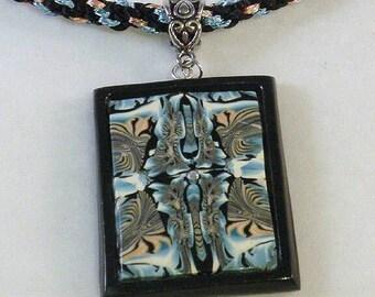 Very unique polymer clay necklace
