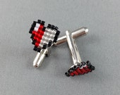 Pixel Heart Container Zelda Cufflinks - Geeky Cufflinks Geeky Wedding Zelda Wedding Gamer Cufflinks Video Game Cufflinks