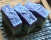 Handmade Soap, Blueberry fragrance, Cold Process Soap, Handcrafted Artisan Soap, Silk Soap, Blue Clay, Blueberry Seeds, Luxury Bath Bar