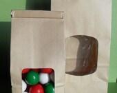 XOXO SALE 50 Kraft Brown Tin - Tie Half Pound Favor Bags, Kraft Brown Wedding Favor Bags, Kraft lined Candy Bags, Popcorn Bags, Cookie Bags