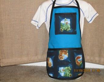 Dinosaur Scenic Patches 2T to 5T  Handmade Bib-apron