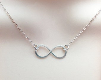 Infinity Necklace, Argentium Silver Infinity Necklace, Silver Infinity Jewelry