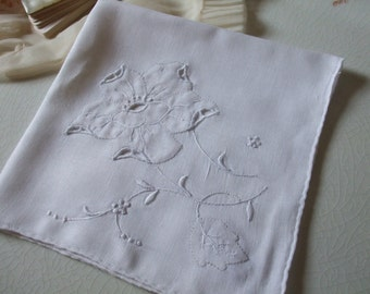 Hankie floral Applique Handkerchief Bridal Wedding