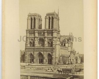 Notre-dame de Paris - 19th Century Albumen Photograph