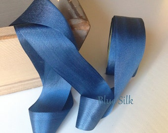 Ribbon Blue , Silk Ribbon, Blue Silk Ribbon ,wedding bouquets and vintage decor!, Gift wrapping, Sewing, Wedding Favors By The Yard