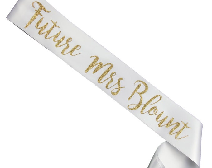 Future Mrs. Sash - Bachelorette Party -Bride Gift - Bride Sash- Bridal Party Sash - Hens Night  - Bachelorette Party Sash - Rose Gold