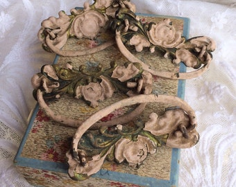 These Antique Pink Chippy Tin Drawer Pulls Scream Shabby Chic