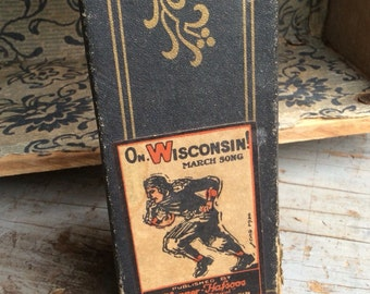 An Antique Player Piano Scroll That Will You Rooting For Wisconsin