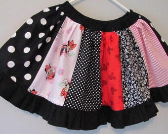 RTS Minnie Mouse Disney inspired twirly skirt - size 6 / 7 - Violette Field Threads Sophia pattern